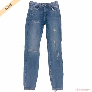 [H&M] Distressed Vintage High Waist Skinny Jeans